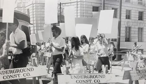 Blank placard dance